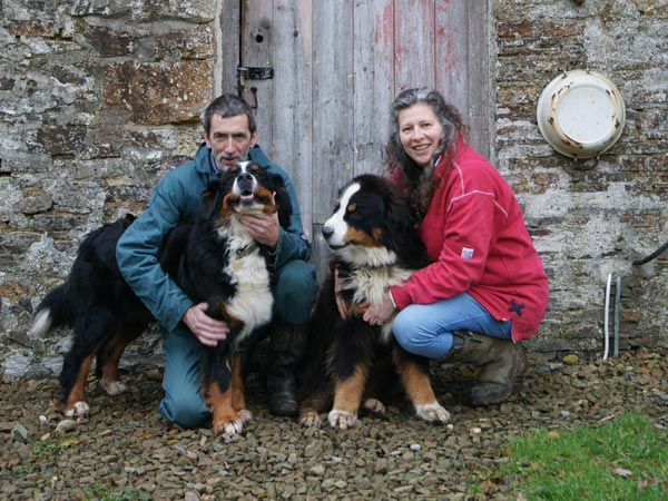 Andrew Hubbard and Debbie Kingsley with their two dogs