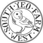 South Yeo Farm West's logo of a barn owl surrounded by the farm name