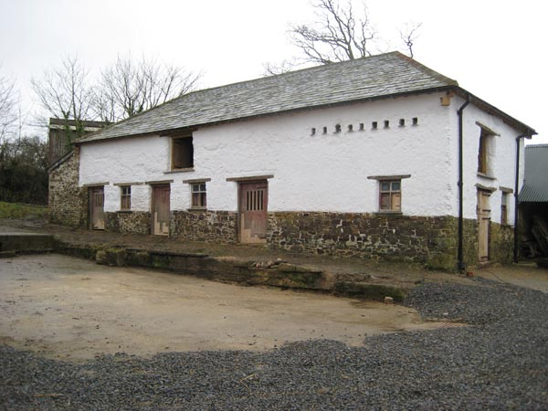 The restored cob barn at South Yeo Farm West