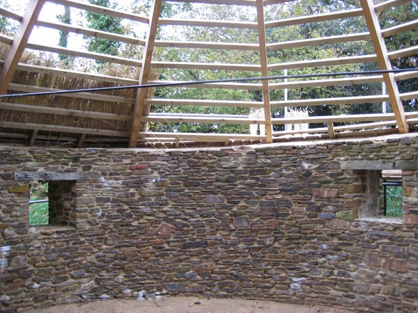 Restoration work in progress on the roundhouse at South Yeo Farm West