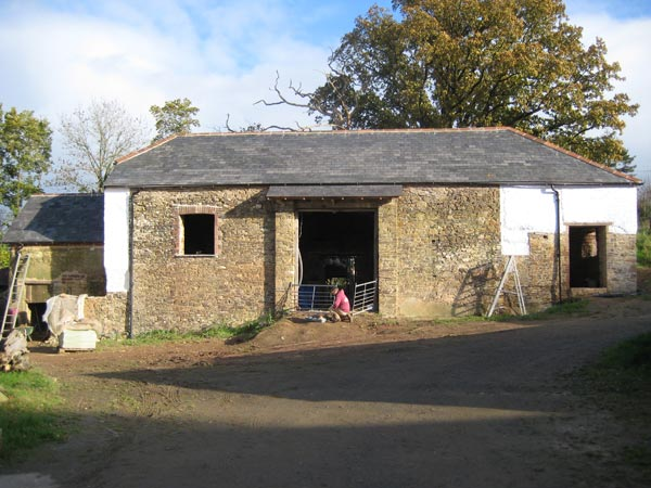 Threshing barn restored and functional at South Yeo Farm West