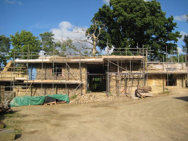 Restoration work commenced on the threshing barn at South Yeo Farm West